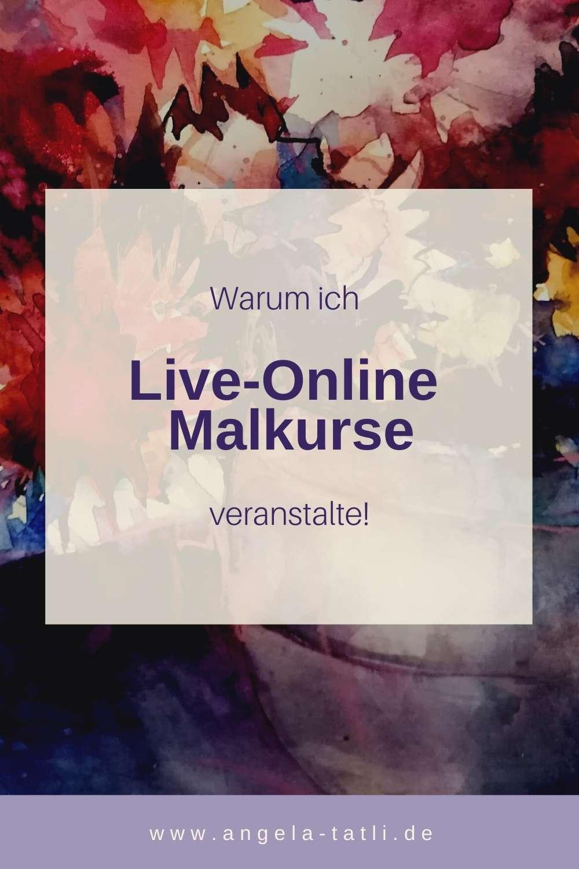 Information über Live Online Malkurse von Angela Tatli