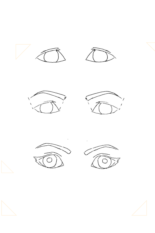 Augenformen gezeichnet