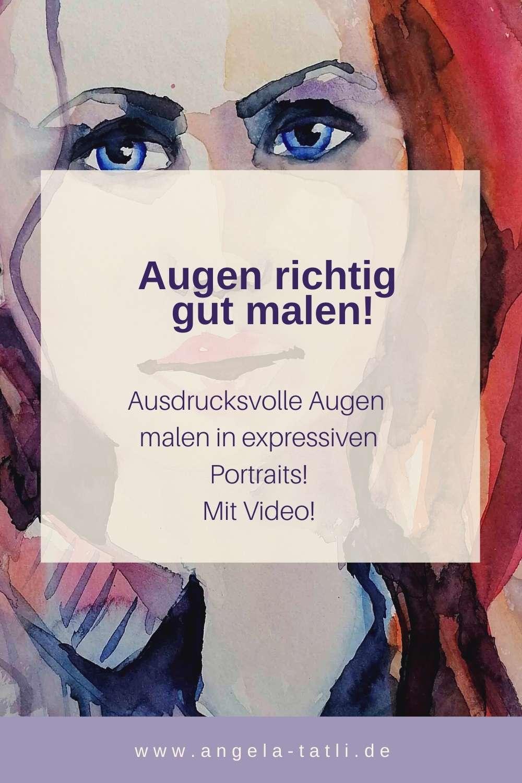 Blogtitelbild: Augen richtig gut malen von Angela Tatli
