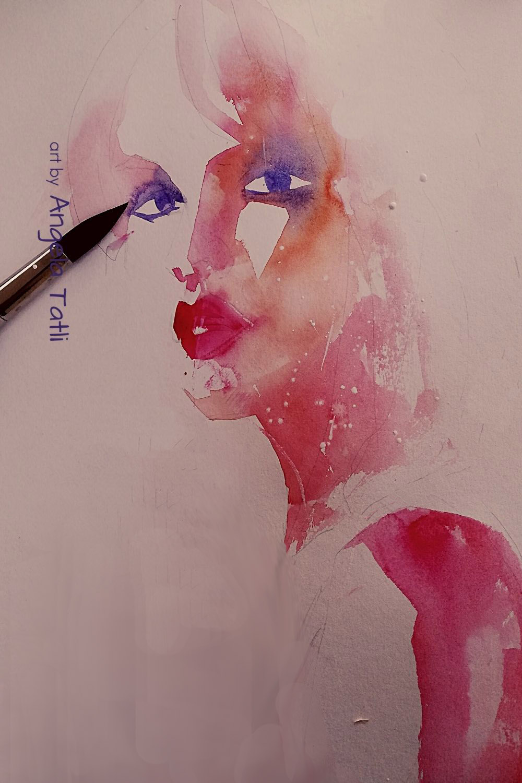 "Live-Online Aquarellmalkurs ""Portraits expressiv malen lernen"""