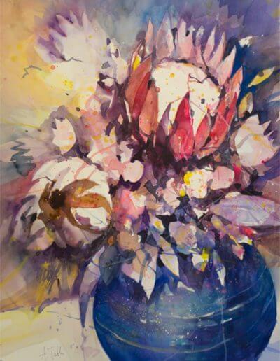 Aquarell Proteas Bildgröße 75 X 56