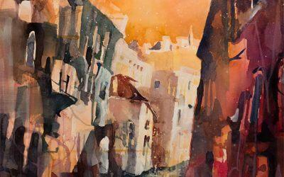 Aquarellmalerei Venedig